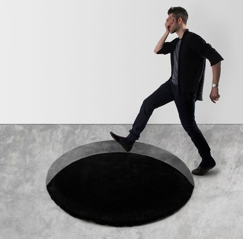 This Rug Is Designed To Create An Optical Illusion That