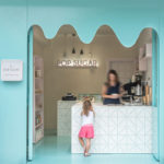 A Bright Blue 'Melting Chocolate' Facade Welcomes Visitors To This Tiny Sweet Store
