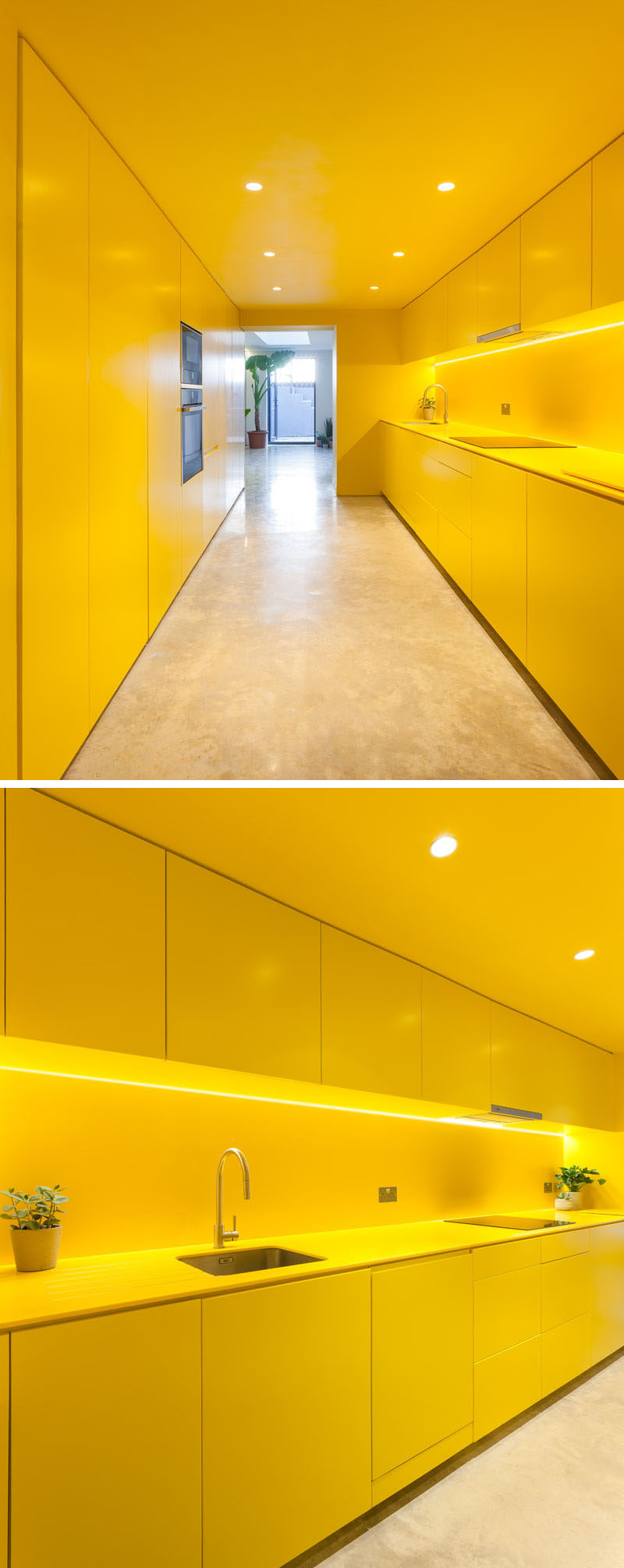 A Yellow Kitchen Brightens Up This North London Basement ...