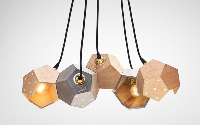 Plato Design have created a collection of concrete and wood magnetic lamps named TWELVE. #ModernLighting #PendantLighting #Design