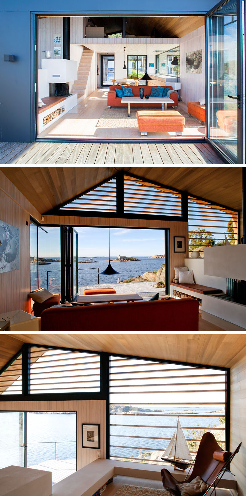 Lund+Slaatto Architects Have Designed A Cedar Clad Contemporary Waterfront  Cabin In Norway · «