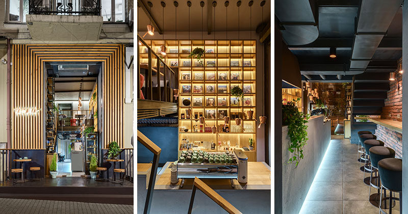 This Coffee Shop Creates A Warm Interior With The Use Of