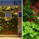 A Green Wall Using Concrete Panels Was Added To This Small Building In Sweden