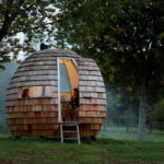 "The ""Escape Pod"" Is A Unique Shingle Covered Outdoor Space"