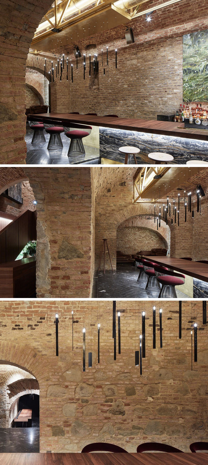 Büro KLK transformed an 18th century cellar in Vienna, Austria, into a contemporary underground cocktail bar. #CocktailBar #UndergroundBar