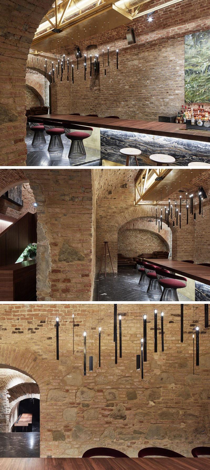 Büro KLK transformed an 18th century cellar in Vienna, Austria, into a contemporary underground cocktail bar. #CocktailBar #UndergroundBar