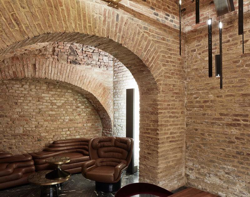 Büro KLK transformed an 18th century cellar in Vienna, Austria, into a contemporary underground cocktail bar. #UndergroundBar #BarDesign
