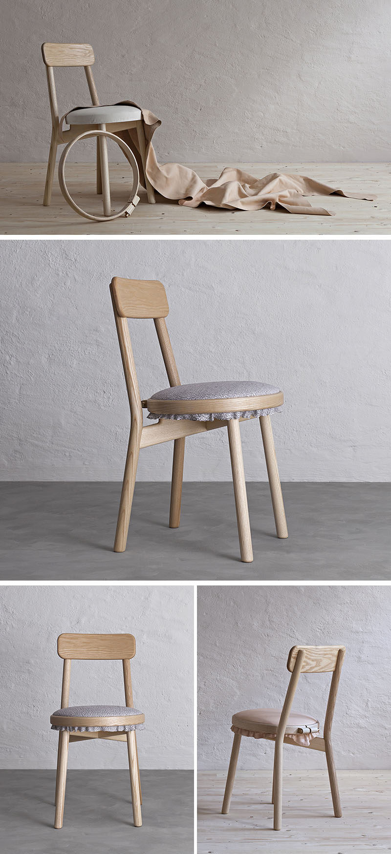 Merveilleux Swedish Design Firm Stoft Studio, Have Created The Canvas Chair, A Simple Wood  Chair
