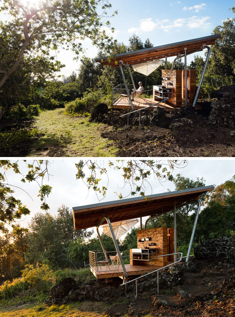 The Quot Outside House Quot Straddles A 300 Year Old Lava Flow On Maui