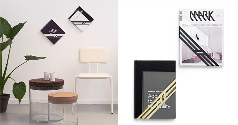 Dutch design agency Frederik Roijé, has created a collection of wall mounted magazine racks that are named 'Ribbon'. #MagazineRack #MagazineHolder #BookHolder #WallMountedMagazineHolder