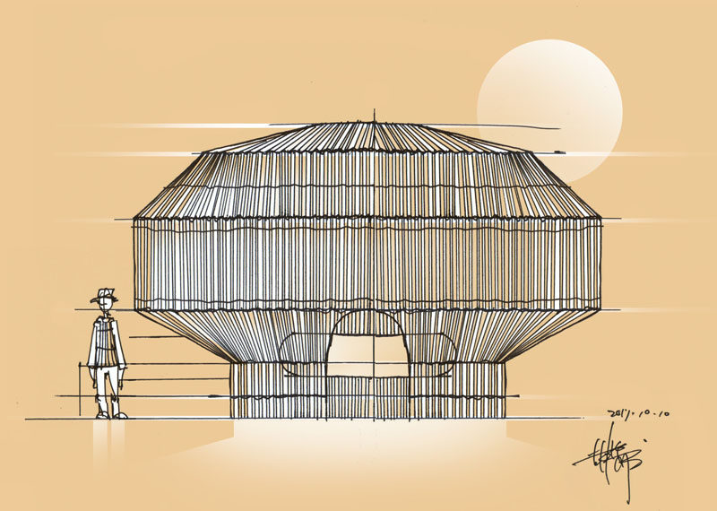 Taiwanese artist Cheng-Tsung Feng has completed the 'Fish Trap House', an artistic installation created using traditional fish trap design methods and techniques. #Art #Architecture #Design