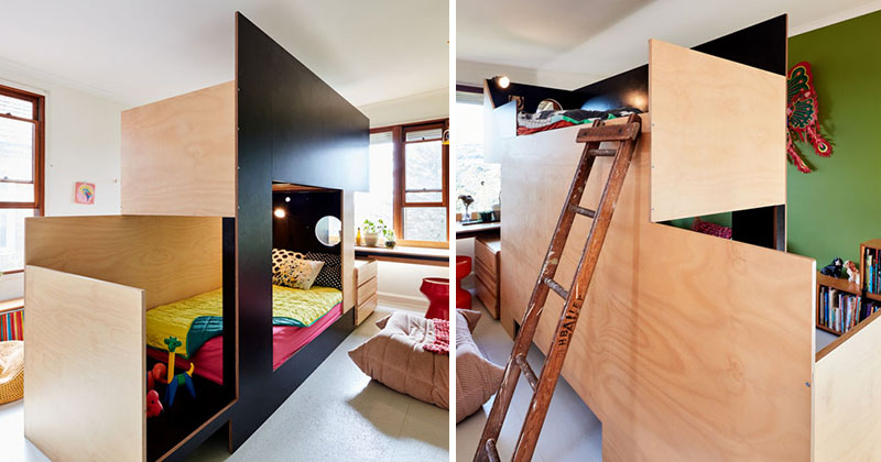 This Custom Bunk Bed Splits The Room In Two To Give Each