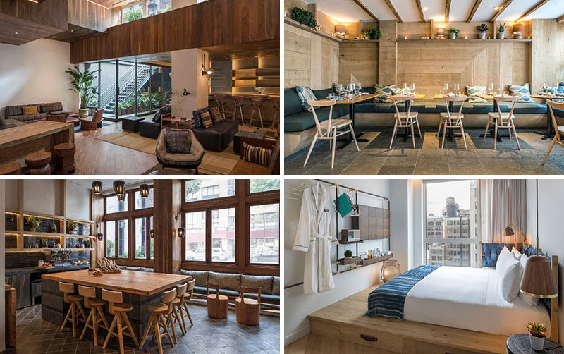 Sam Gelin, owner ofCraft Hospitality has launched MADE, his first modern hotel in New York City, that features warm wood accents throughout. #ModernHotel #NYCHotel #MADEHotel #HotelInterior