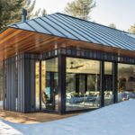 This New Metal Clad Guest House Is Surrounded By The Forest In Vermont