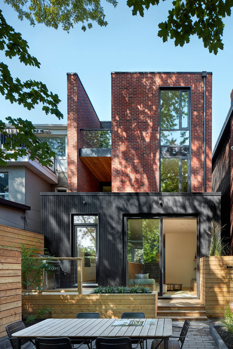 Red Brick And Black-Stained Cedar Siding Were Used To ...