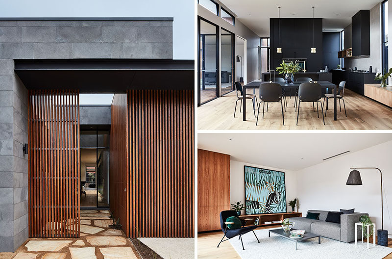 This Modern Australian House Wraps Around A Courtyard For Indoor
