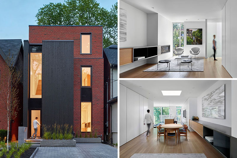Architecture firm AKB - Atelier Kastelic Buffey, have completed the Summerhill Residence, a contemporary house in midtown Toronto, Canada, that was designed for aprofessional couple with a young child. #Architecture #ModernHouse #ModernInteriorDesign