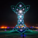 The 37-Foot Tall Interactive Art Installation Named Ilumina That Lit Up The Skies Of Burning Man