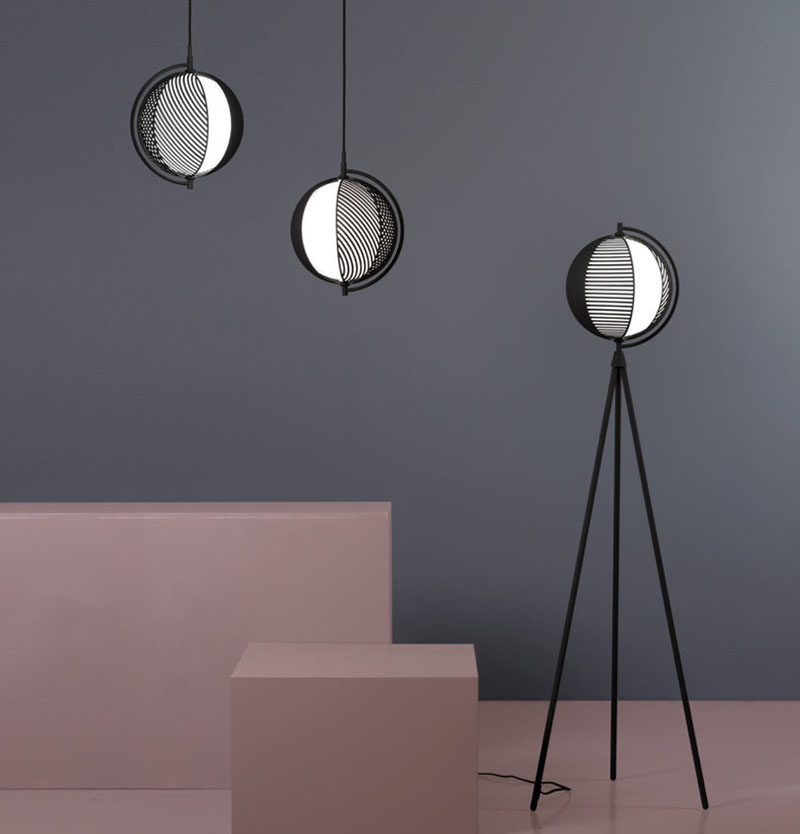 Italian designer Antonio Facco has designed Mondo, a new lighting collection that has overlapping patterns that can change lighting effect. #PendantLight #Lighting #Design