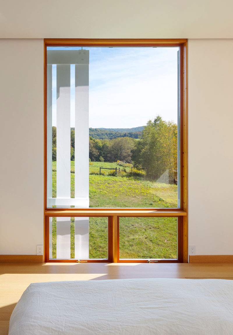 Wood window frames have been used in this modern farmhouse. #WindowFrames #WoodWindowFrames #Windows