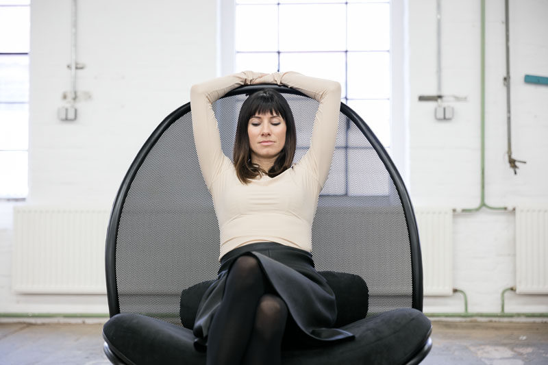 Designer Lucie Koldova has created the Chips Lounge Chair for TON, that has a oversized and airy backrest and frame of bent wood. #ModernSeating #LoungeChair