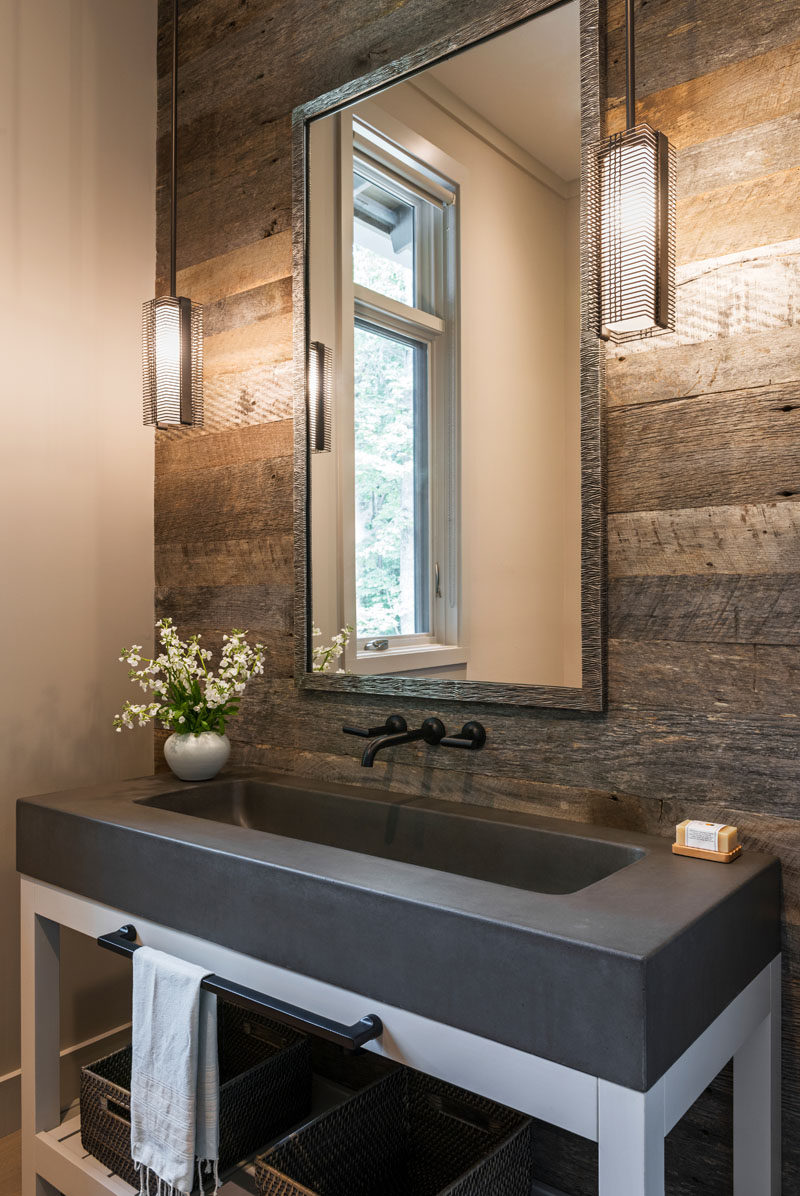 Modern Powder Room Mirror