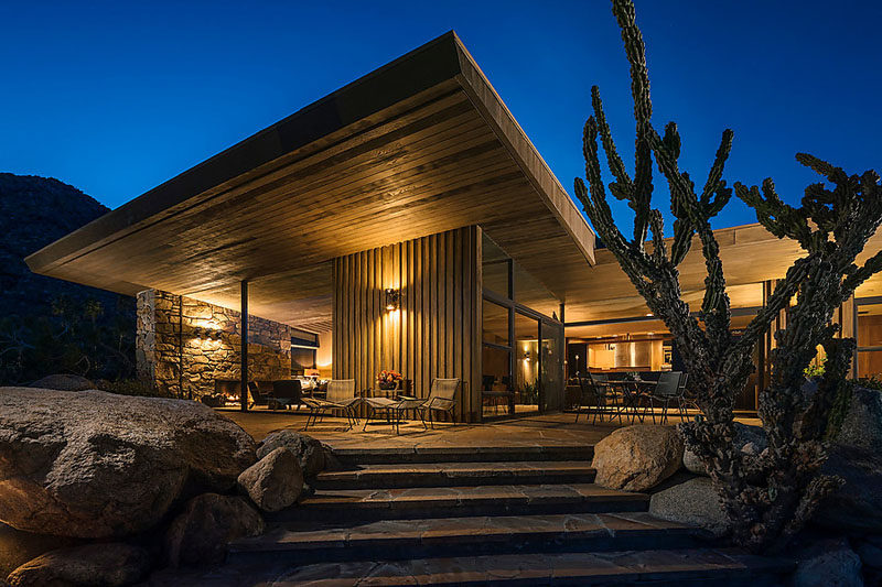 Positioned Within The Desert Landscape, This House Is An Example Of  Mid Century Modern