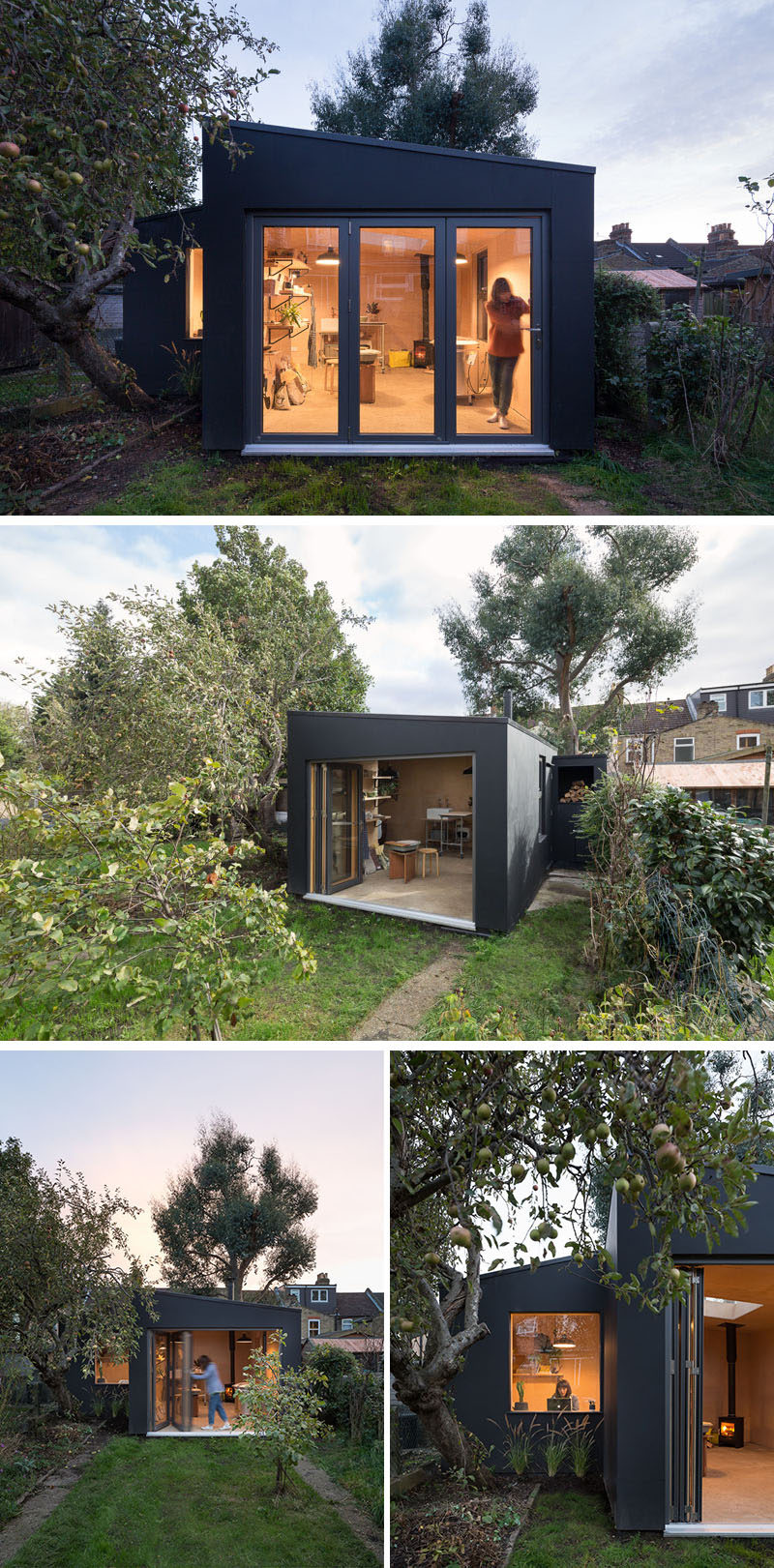 British firm Grey Griffiths Architects have designed a backyard pottery shed for a ceramicist in East London. #PotteryShed #BackyardStudio