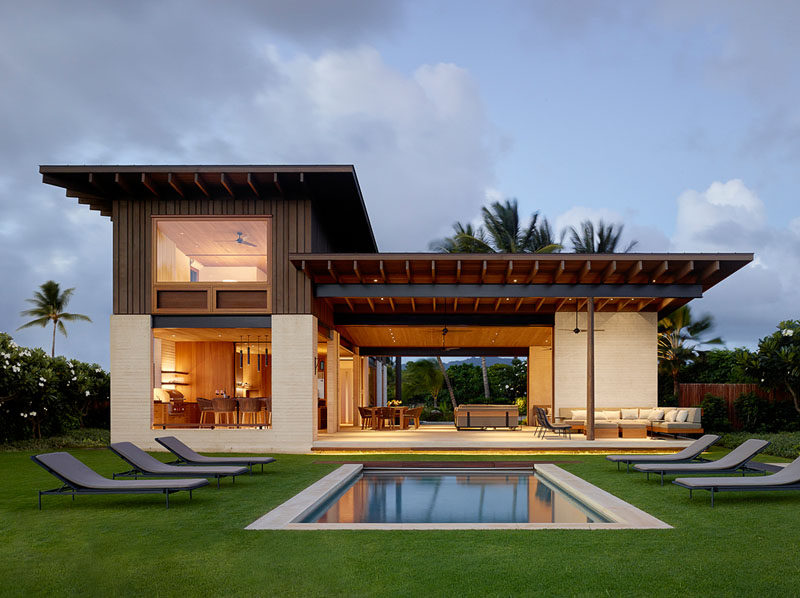 This new home in hawaii was designed to enjoy indoor for Home plans hawaii