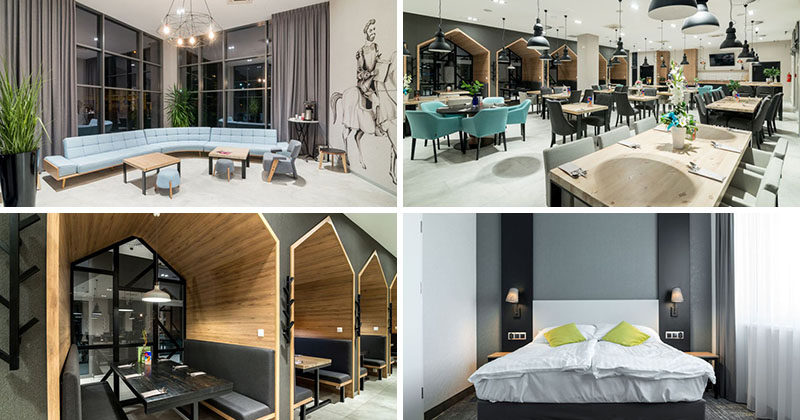 Architecture firm Tremend, have recently completed the Ibis Styles Grudziadz Hotel that's located in the Old Town area of Grudziadz, Poland. #HotelDesign #HotelInterior