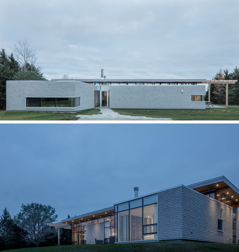 Architecture and interior design firm FBM have recently completed a new modern house for an active couple in their seventies and their visiting extended grown-up family. #ModernHouse #HouseDesign #Architecture