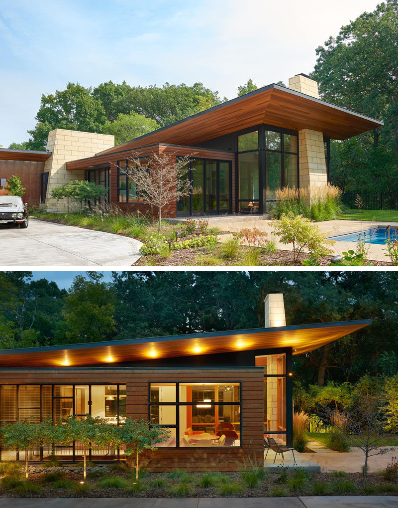 This Modern Ranch House Uses A Variety Of Key Materials Throughout Its  Design, Like Corten
