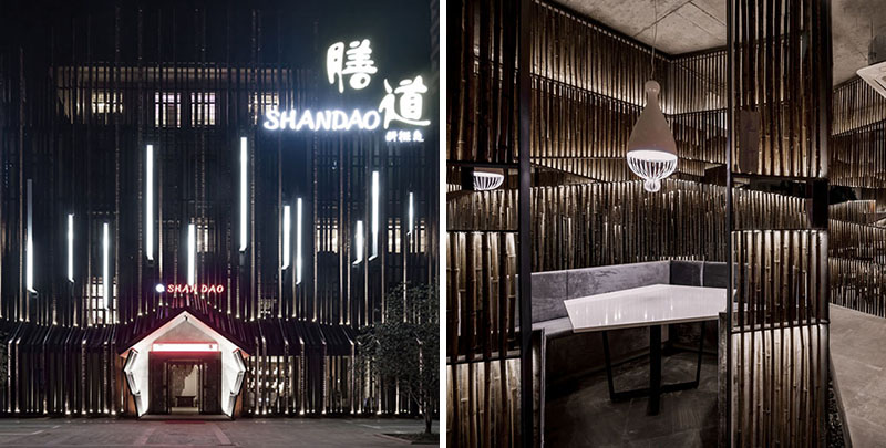 This new restaurant in china creatively uses bamboo for Interior design agency shanghai