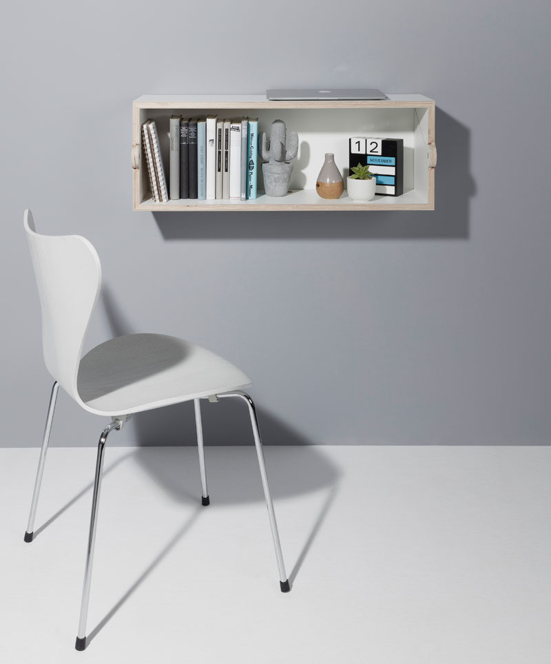 Berlin Based Designer Michael Hilgers Has Created Twofold A Compact Wall Shelf That Can Be