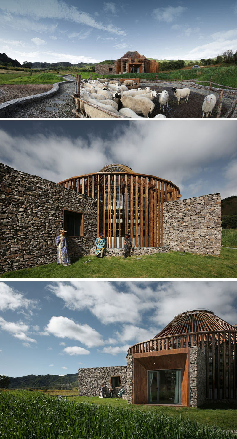 Architecture firm HDD have designed the Mulan Weichang Visitors Centre, that's located in China, and whose shape is inspired by yurts. #Architecture