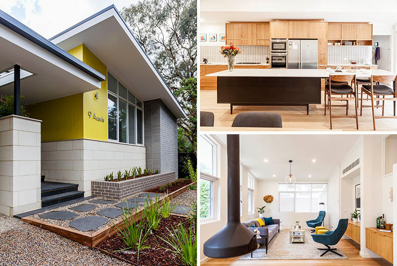 Detail 9 Architects have given new life to a mid-century modern home in Melbourne, Australia, by addinga new extension and a basement with a wine cellar. #MidCenturyModern #Landscaping #InteriorDesign