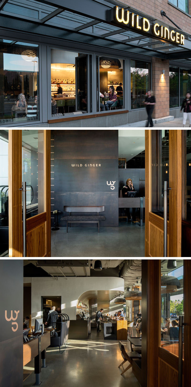 Seattle-based firm SkB Architects have recently completed the interior design for 'Wild Ginger', an established Southeast Asian restaurant that moved to a new location in Bellevue, Washington.
