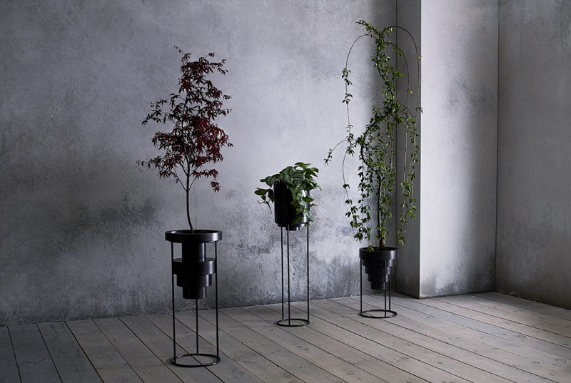 The Layered Planters By Anna Karlin Are Made From Cold Rolled Stainless Steel