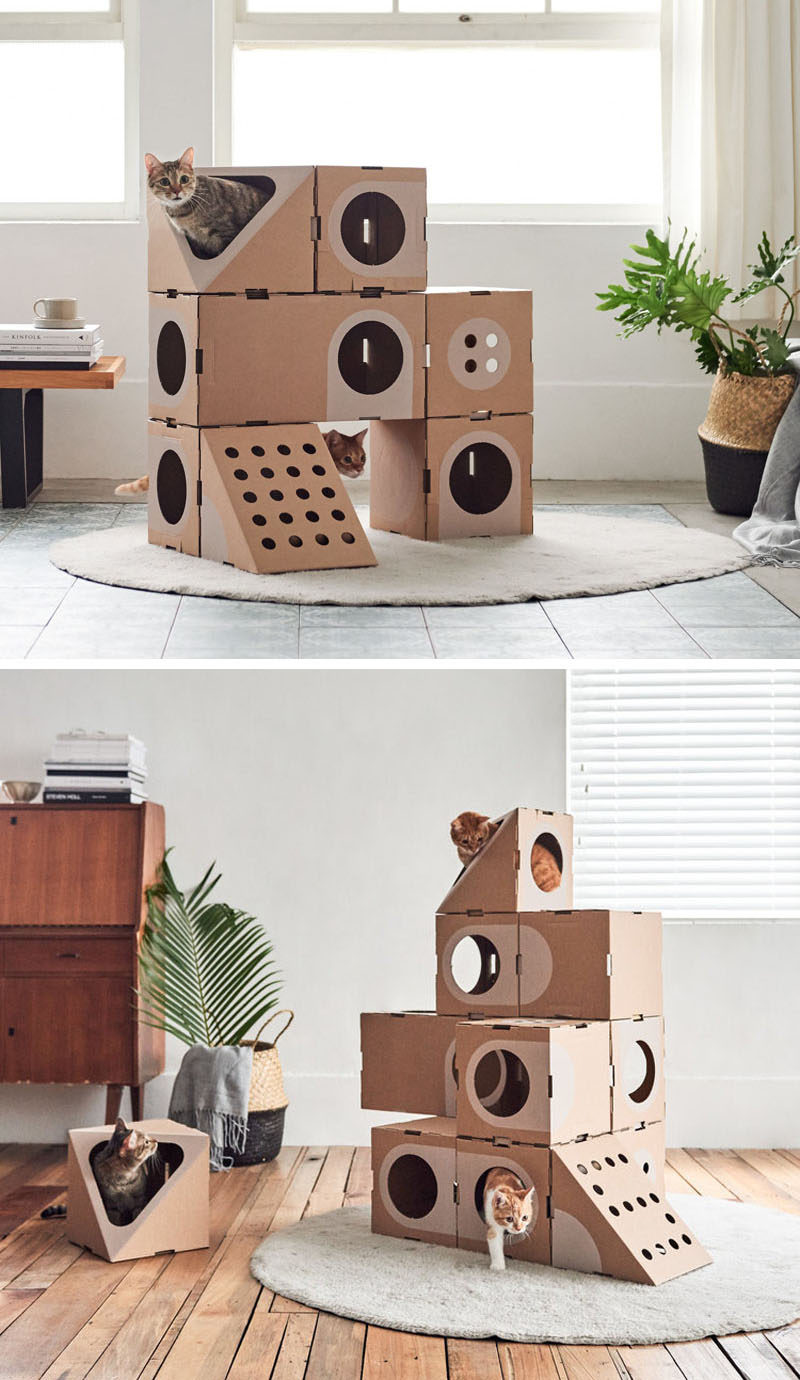 Design Studio A Cat Thing Have Created A Fun Cardboard Cat Furniture That  Has A Cariety