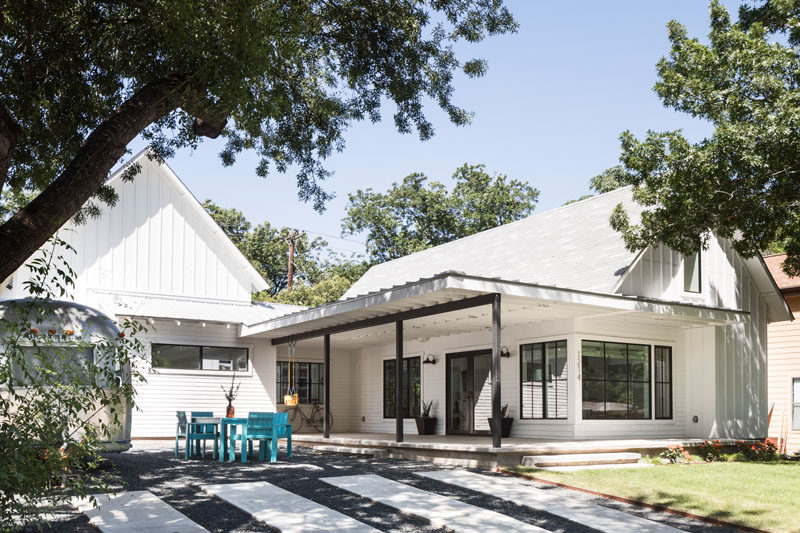 Arbib Hughey Design Have Completed A New Contemporary House In Austin, Texas,  That Has An Open Front Porch And Patio Area At The Top Of The Driveway.