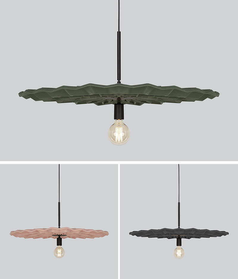 Kyla McCallum has designed 'Fold', a modern pendant light whose design has been inspired by the crisp folds of origami. #ModernLighting #PendantLight #Design