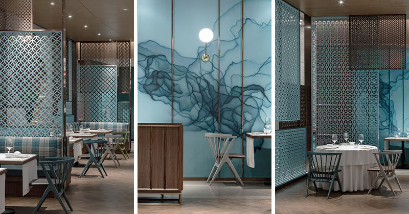 Golucci Interior Architects have recently completed the design of theHuayue Court Peking Duck Restaurant that's located inShanghai, China. #ModernRestaurant #RestaurantDesign