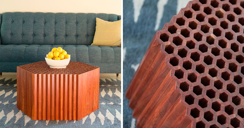 Josh Neilsen Has HandCrafted The Honeycomb Coffee Table From 1056