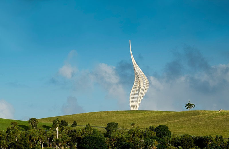 Gerry Judah has designed JACOB'S LADDER, a new sculpture for Gibbs Farm Sculpture Park, New Zealand. #Sculpture #PublicArt #Art #Design