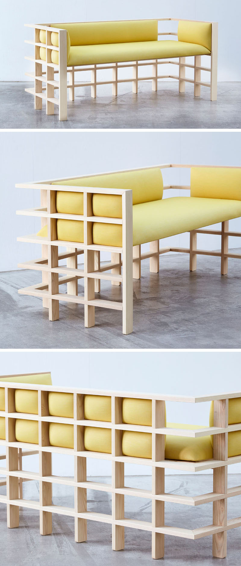 Australian based designerElliot Bastianon, has created a new modern furniture collection named 'Straight Lines'. #ModernFurniture #Design #Couch #Wood