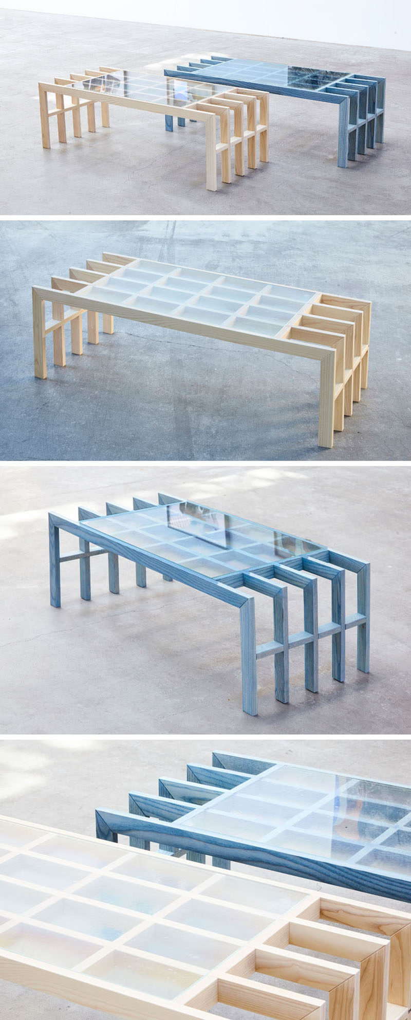 Australian based designerElliot Bastianon, has created a new modern furniture collection named 'Straight Lines'. #ModernFurniture #Design #CoffeeTable #Wood