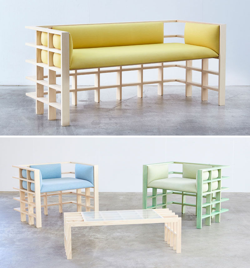Australian based designerElliot Bastianon, has created a new modern furniture collection named 'Straight Lines'. #ModernFurniture #Design #Couch #Chair #Wood