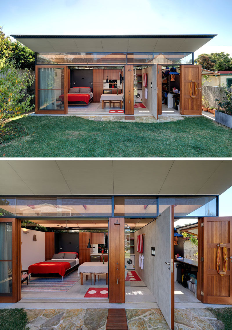 This Impressive Backyard Shed Combines Living Quarters, A ... on Outdoor Living Buildings id=28067