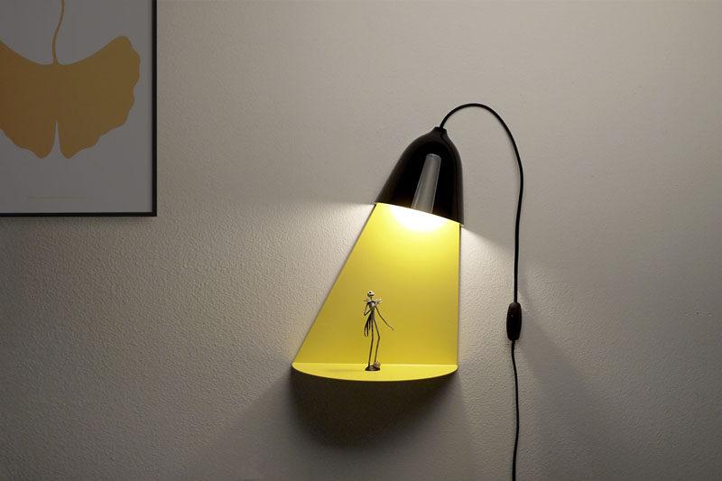 Designer Jong-su Kim of Korean based studio ilsangisang, has designed a lamp that has a built-in shelf for displaying decorative items. #Lighting #Decor #WallLamp