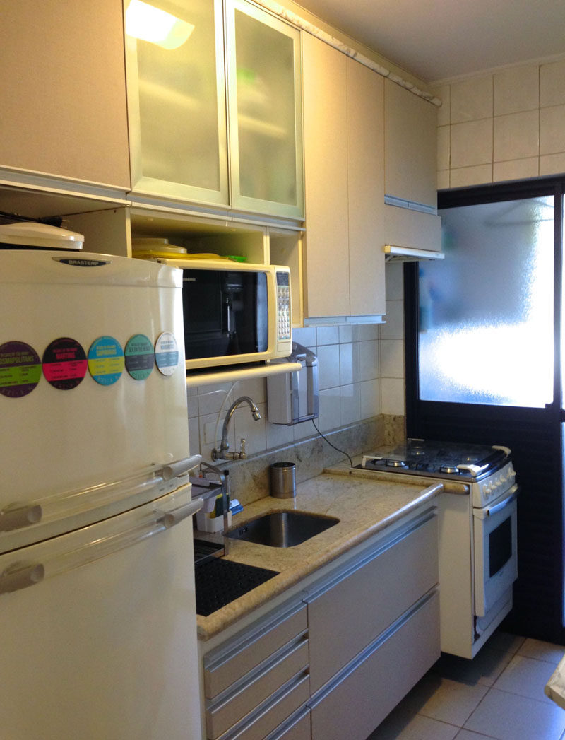 Before & After - A New Bright Blue Kitchen For This Small ...